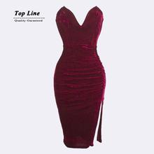 2015 New Fashion Bandage Dress Plus Size S M L Women Sexy Off The Shoulder Strapless Bodycon Mini Dress Casual Velvet Dress(China (Mainland))