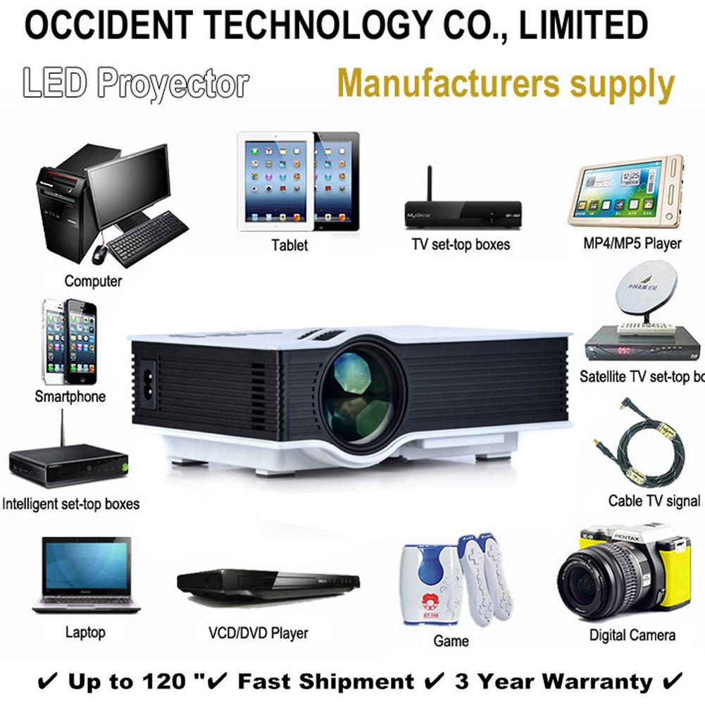 Free shipping 2015 New UC40 Projector Mini Pico portable proyector Projector AV VGA A/V USB SD VGA HDMI Projector Support Korean<br><br>Aliexpress