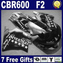 Motorcycle fairings Honda CBR600 F 1991 1992 1993 1994 CBR 600 F2 91 92 93 94 black sevenstars fairing set+ tank - Custom Fairing store