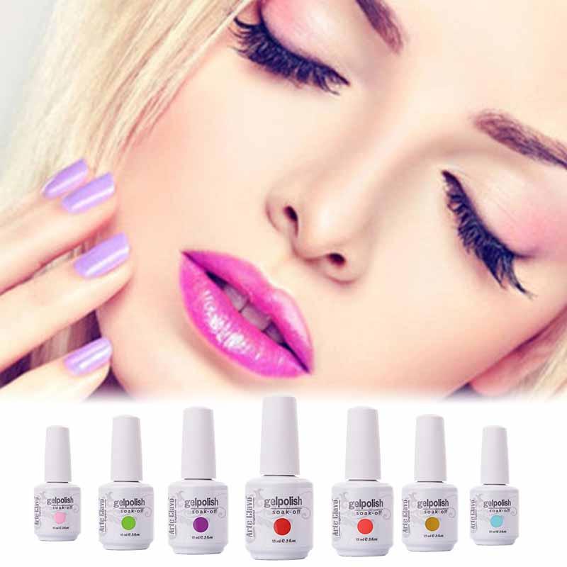 Arte Clavo Gelpolish 15ml 12 PCS/LOT Nails Gel Professional UV Led Nail Art Set UV Color Gel Polish wholesales(China (Mainland))