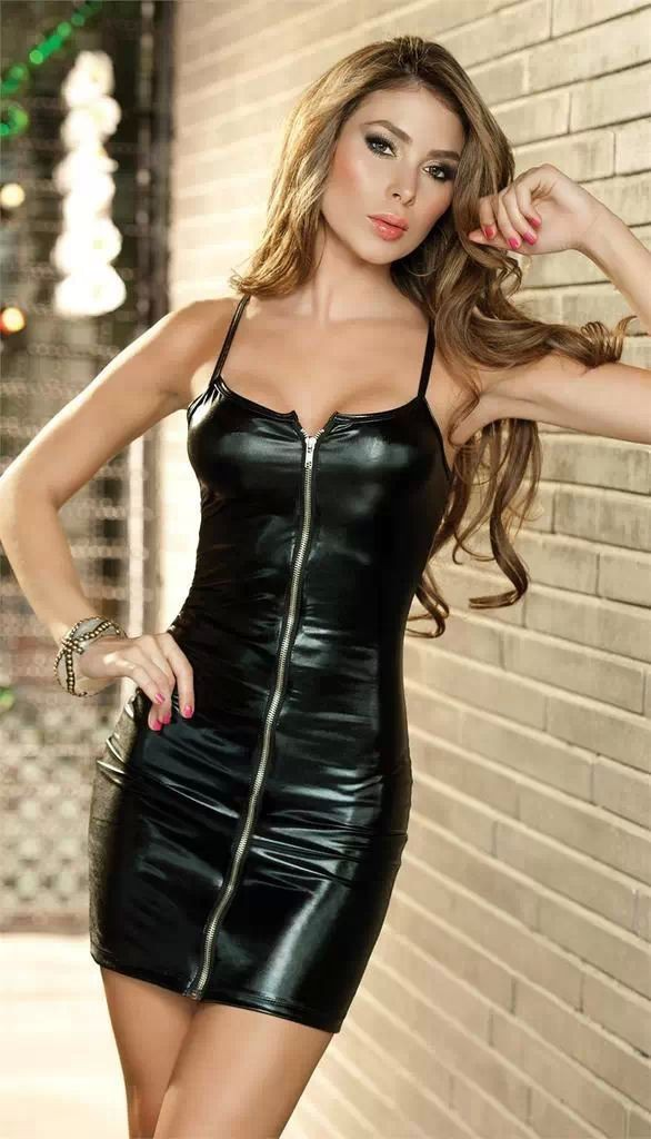 daringly sexy faux leather mini dress sexy clubwear party dress hot erotic metallic dancewear. Black Bedroom Furniture Sets. Home Design Ideas