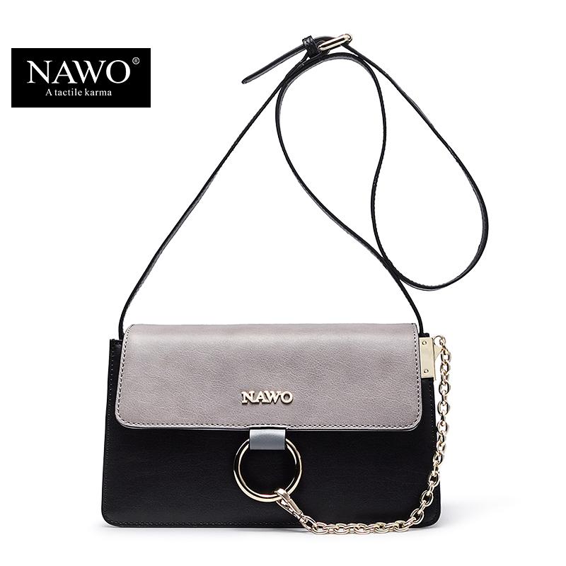 NAWO Women Bag 2016 Fashion Famous Designer Brand Women Messenger Bags Leather Small Crossbody Bag For Women Sac A Main Femme(China (Mainland))