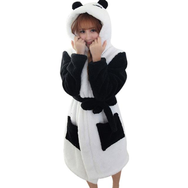 Новый Дизайн Зимнего Леди Пижамы Халат Пижамы Женщин Coral Бархат Халаты Женщины ...
