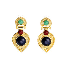 Jewelry Wholesale/2015 Gorgeous Vintage Heart Stud Earring Women Earring Good Quality (Min $20 can mix)(China (Mainland))