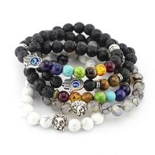 Buy 2016 New Natural 8mm Black Lava Stone Bracelets Reiki Chakra Healing Balance Beads Bracelet Men Women Stretch Yoga Jewery for $2.10 in AliExpress store