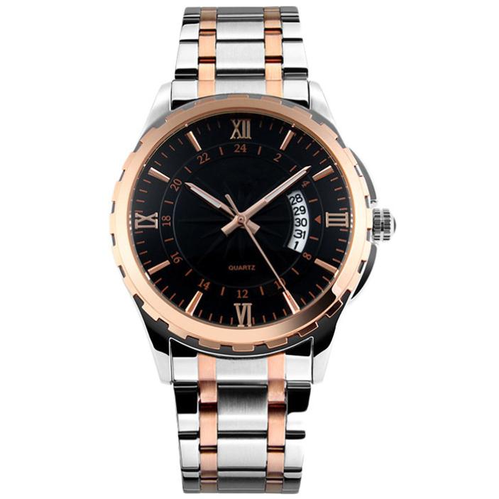 Splendid Mens Luminous Multifunctional Steel Business Fine Waterproof Quartz Watch<br><br>Aliexpress