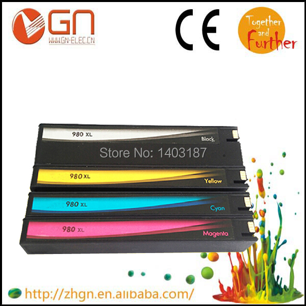 Reman Ink cartridge for hp980xl 981xl with compatible chip show ink level for HP Officejet Enterprise Color X585dn (B5L04A)(China (Mainland))