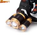 Lithium headlamp searchlight 3 light super bright long range fishing headlight outdoor night riding headlights miner