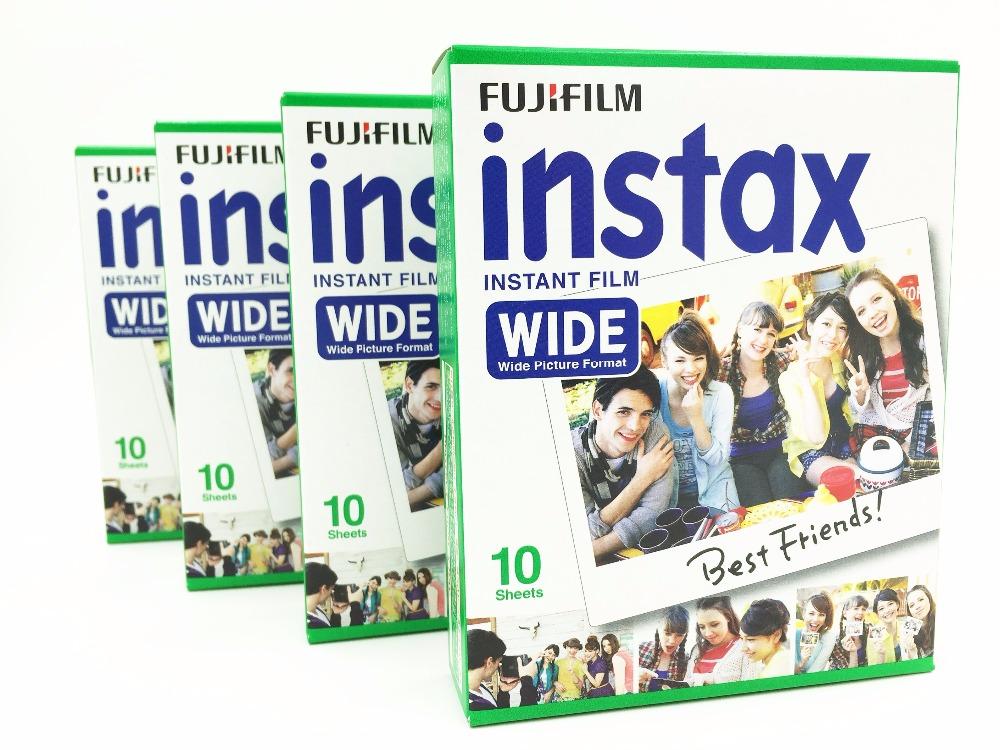 Fujifilm Instax Wide Film Single Pack Bundle 4x10 Sheets For Fuji Instant Wide Cameras Free Shipping(Hong Kong)