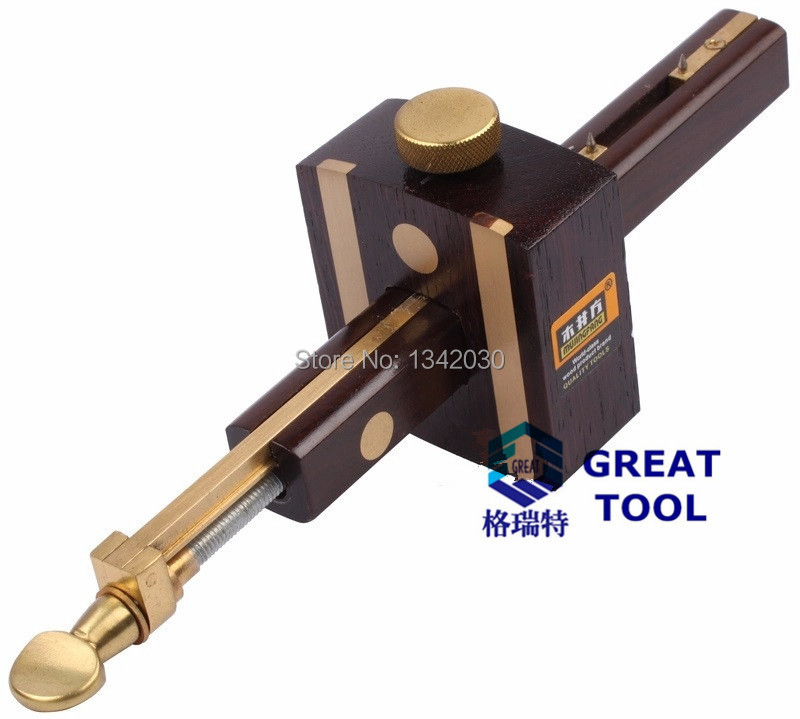 Luxury British Indonesia Ebony+Pure Copper Wearproof Carpenter Woodworking Tool 8INCH Screw Cutting Gauge Mark Scraper Scribers<br><br>Aliexpress