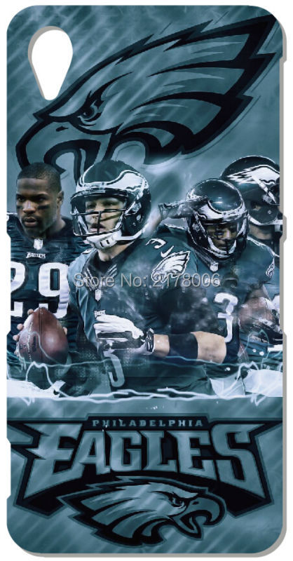 Printed Philadelphia Eagles Phone Cover For Sony Xperia Z Z1 Z2 Z3 Z4 Z5 Compact Mini E4 M C1904 C1905 M2 M5 C3 C4 SP M35h Case(China (Mainland))
