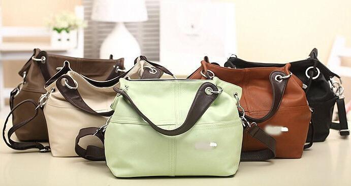 2015 Fashion Item Women Handbag PU Leather bags women messenger bag Splice grafting Vintage women bag