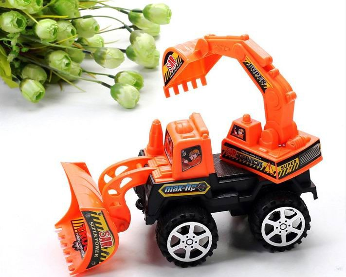 1pc/pack children vehicle excavator toys/ Kids Toys Factory Inertia trailer Double trumpet Truck tractors toy, fast shipping(China (Mainland))