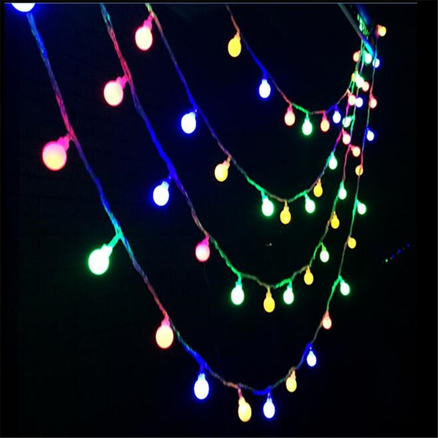220V 10M 50LED light string with lamp cords cherry balls christmas lights LED for Wedding Party Garden garland decorations light(China (Mainland))