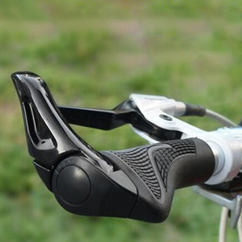 Bicycle Bike MTB Components Bar ends Handlebars Rubber Grips & Aluminum Barend Handle Ergonomic Push Soft Grips, 2 Colors - Shu Ma's store