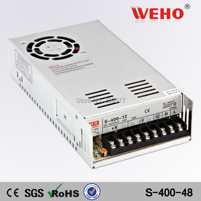 (S-400-5) 110/230VAC Input by switch 400W 5v ac dc power supply 5v 60a 400w led power supply(China (Mainland))