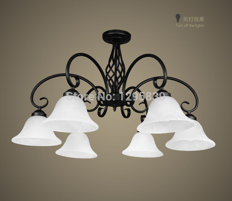 Six Chandelier wrought iron lamps European model lower living room bedroom dining room den lamp New Promotions<br><br>Aliexpress