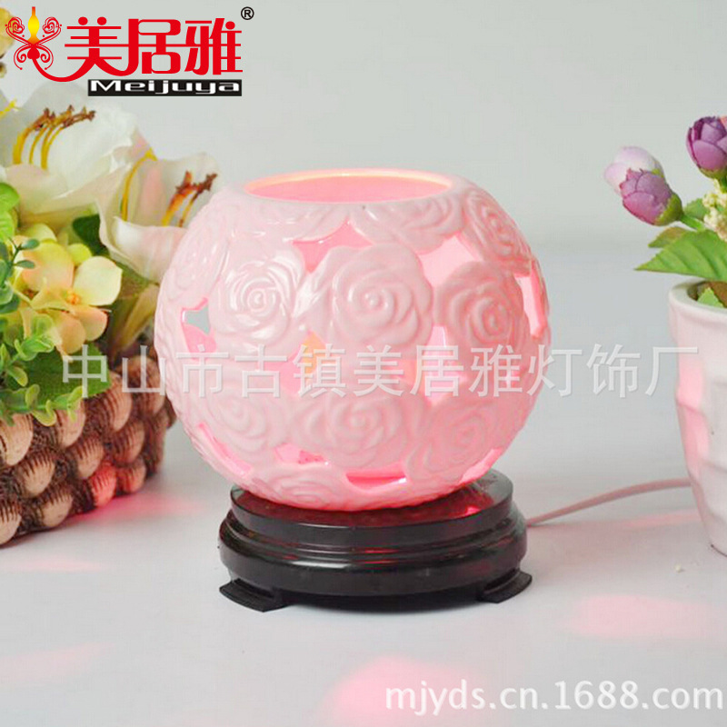 Factory direct ceramic fragrance lamp creative learning eye lamp T0371 Rechargeable Lamps(China (Mainland))
