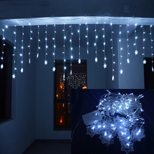 Holiday Lighting 4Mx0.6M Snowflake Xmas Party Fairy Colorful Garland LED Christmas Decoration String Light