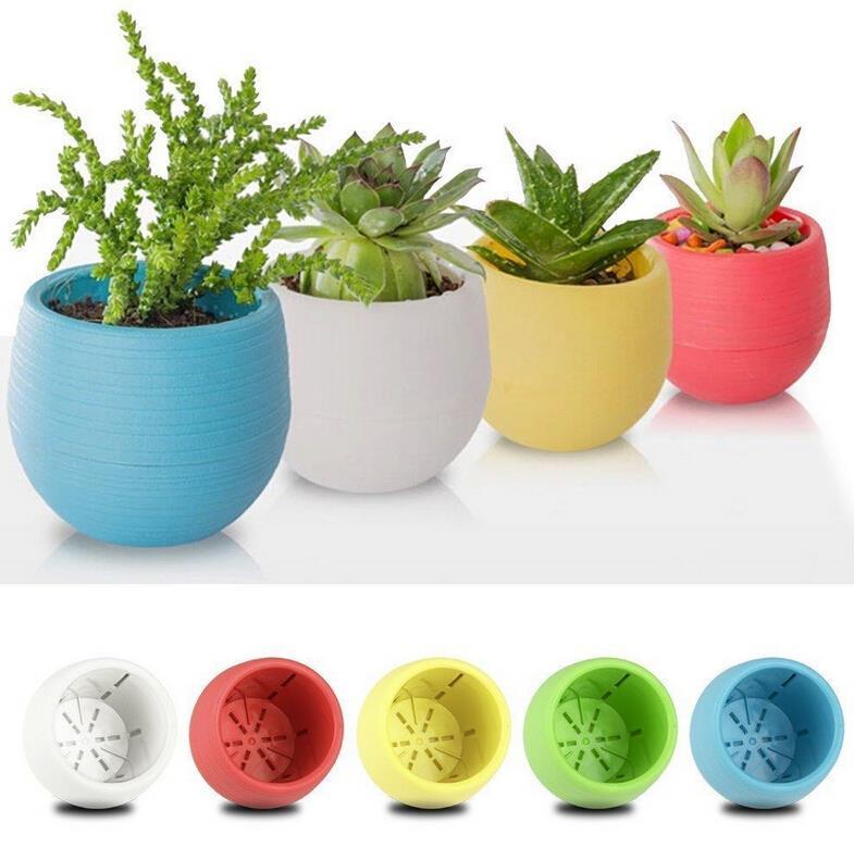 Plastic Flower Pot Succulent Plant Flowerpot For Home