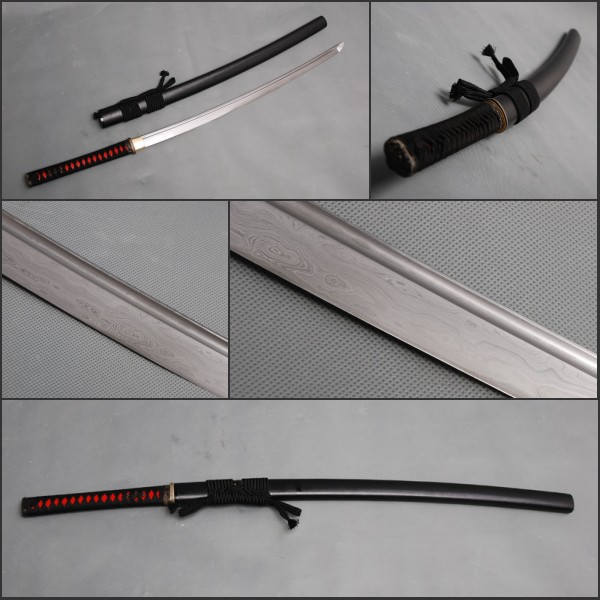 Japanese Fully Handmade Samurai Sword Full Tang Folded Steel Blade Sharp Katana Imply Shining Force Propitious Decoration(China (Mainland))