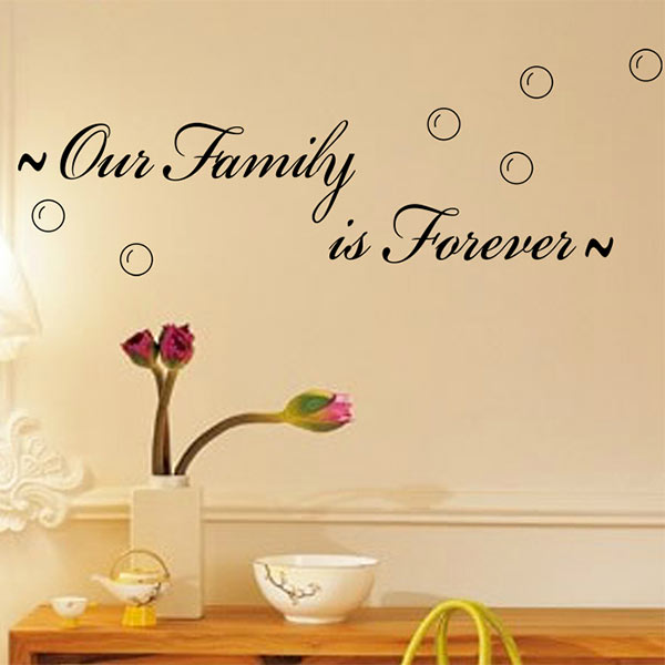 new vinyl letter 0ur family is forever quote removable wall sticker mural decal decor free shipping