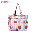 New Floral Print Women Handbag Nylon Fashion Ladies Shoulder Beach Bags Casual Tote Big Shopping Mummy