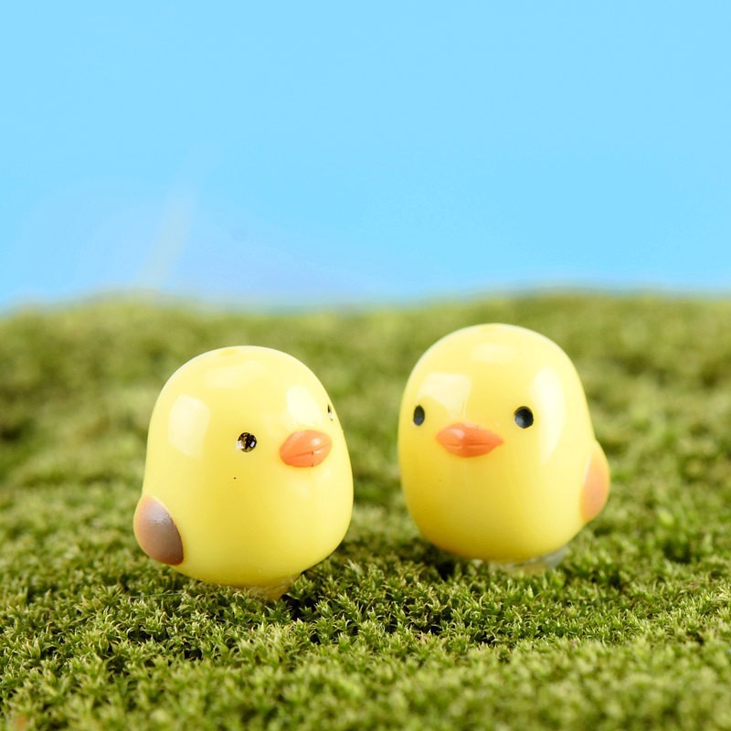 1Pcs Cute Mini Chick Micro Landscaping Decoration Small Plastic Craft Diy Sand Table Accessories K6717