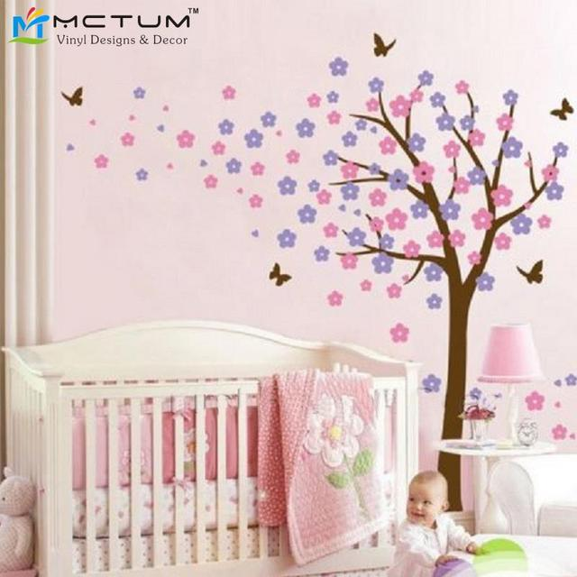 Bricolage vinyle amovible stickers arbres papillon for Decoration murale oiseau 3d