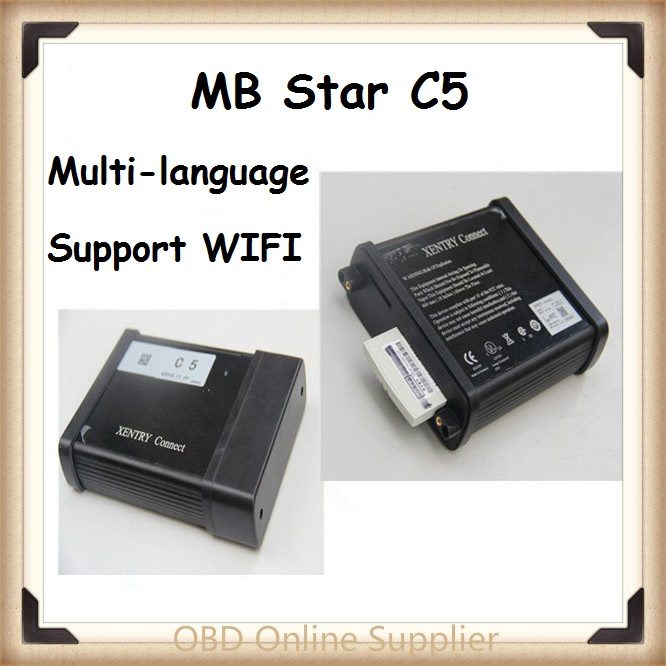 Support multi-language best MB STAR C5 SDConnect Wireless C5 Multiplexer Diagnostic Tools with WIFI upgrade of MB STAR C4(China (Mainland))