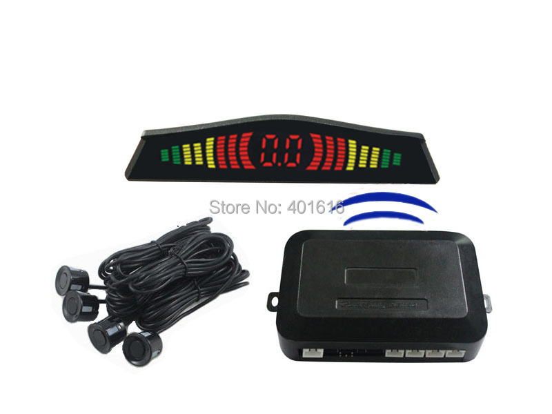 wireless LED parking sensor,parking assistance,car Parking Reverse Radar 4 Sensors,3 color sensors - Kingsun Technology Co;LTD store