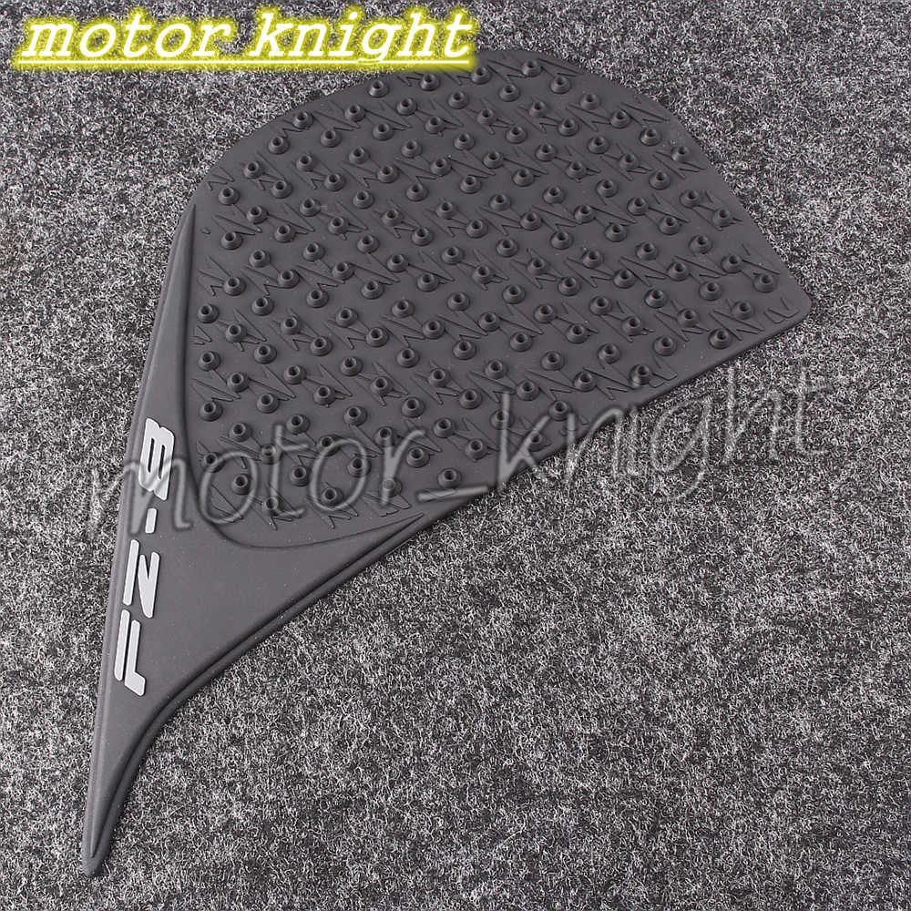 Motorcycle Black Tank Traction Side Pad Gas Fuel Knee Grip Decal fit Yamaha FZ8 2010-2015 2010 2011 2012 2013 2014 2015 - Motor_Knight store