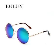 BULUN 2015New Metal Round steampunk Sunglasses Women Brand Designer Retro Sun Glass Unisex Oculos De Sol Feminino Lentes Gafas