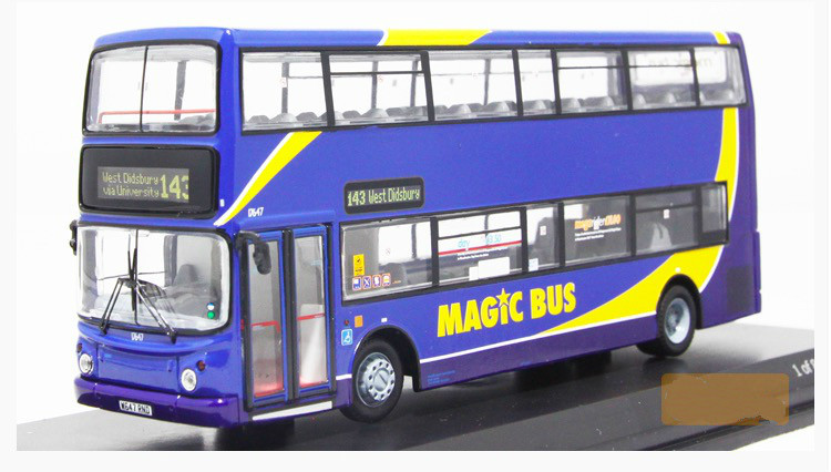 1:76 Scale Precision Collectible Car Styling Die Cast Alexander ALX400 Magic Bus Double-decker Bus Model Kid Toy Gift(China (Mainland))