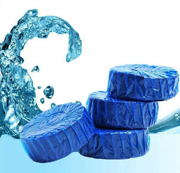 2pcs Toilet Deodorant Blue Bubble Flushing Toilet Cleaner Sterilization Automatic Toilet Cleaner(China (Mainland))