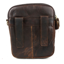 FS Genuine Leather Men Casual Shoulder Bags First Layer Cowhide Messenger Bags Vintage Small Cross Body