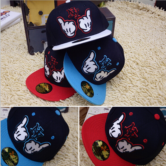 Fashion NY Letter Kids Hip Hop Baseball Cap Boy Girls Flag Snapback Hat Child Casual Baseball Cap For Children(China (Mainland))