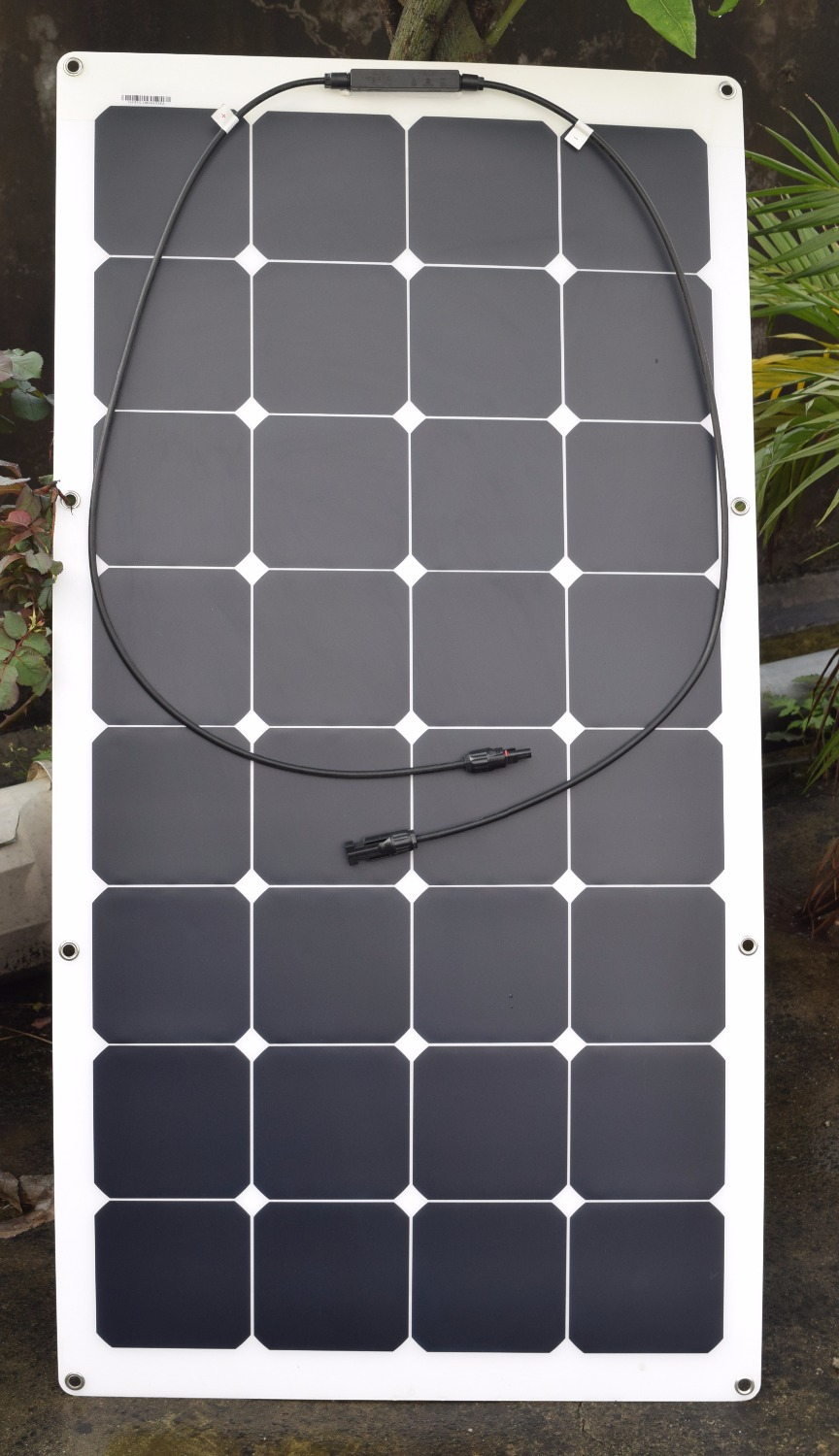Solarparts 1x100w Frosted Surface flexible solar panel cell module system kits DIY RV/Marine/Boat/Camp Car 12V solar bat charger(China (Mainland))