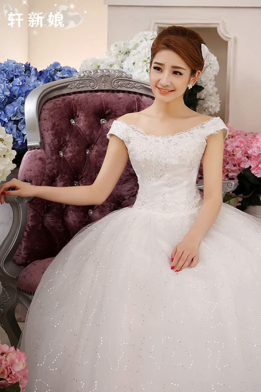 Z 2016 Новый фонда свадебное платье плюс размер женщин свадебное платье щель декольте calloped бретельках вышивка A68