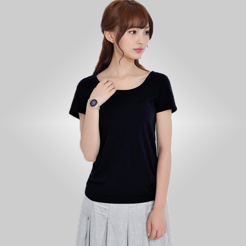 free shipping good quality modal short-sleeve T-shirt women's o-neck basic shirt female casual clothings 9.90 wcm(China (Mainland))