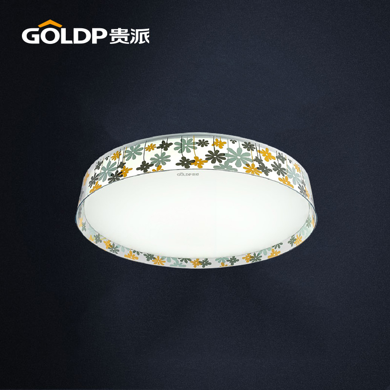 Illumine 16w country style flush mount bedroom led ceiling for Country lighting fixtures for home