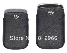 new good quality leather case for Blackberry 9900 9930 pouch protector cover case(China (Mainland))