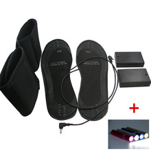 Electronic Heating Insoles for Winter Electric Heated Elements Outdoor Shoes with 2600mAh Flashlight Power Bank
