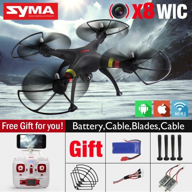 СЫМА X8W FPV RC Мультикоптер Drone с WI-FI Камера 2.4 Г 6 Оси Дрон СЫМА X8C 2-МЕГАПИКСЕЛЬНОЙ Камерой RTF Вертолет с 2 Батареи VS X101