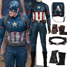 2016 Hot Movie adult Captain America 3 Civil War Cosplay Costume Steve captain america costume Adult Men Halloween