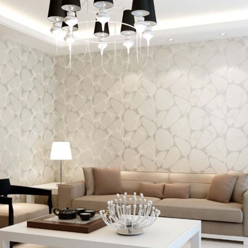 High end 10m luxury non woven flocking embossed textured for High end wallpaper