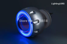 2ABC Universal Motorbike 35w 2 inch Hid Bi xenon Projector Lens Kit with Slim Ballast Blue Green Red Yellow White CCFL Angel Eye(China (Mainland))