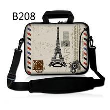 "Paris Eiffel Tower 12"" Laptop Shoulder Case Bag w/Pocket For 11.6"" Macbook Air/Dell/Asus/Acer(China (Mainland))"