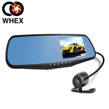 Dual Camera Car Rearview Mirror Novatek 96220 Dash Cam HD 1080P 4.3'' screen Rear view auto DVR parking recorder video camcorder(China (Mainland))