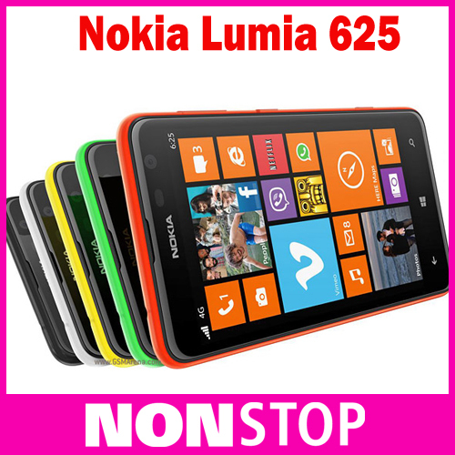 original Nokia Lumia 625 cell phones 4.7 inch capacitive touch screen GPS WIFI 4G network in stock(China (Mainland))